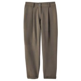 伸びるタック入パンツ(ゆったりヒップ)(FIFTH) (大きいサイズレディース)パンツ,plus size