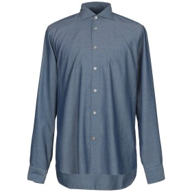《期間限定セール開催中!》BORRIELLO NAPOLI メンズ シャツ ブルー 41 コットン 100%