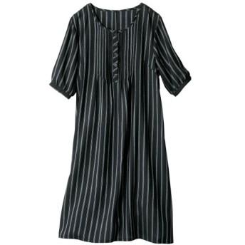 【大きいサイズ】 レーヨン100%うすカル柔らか5分袖ワンピース(薄手素材) ワンピース, plus size dress