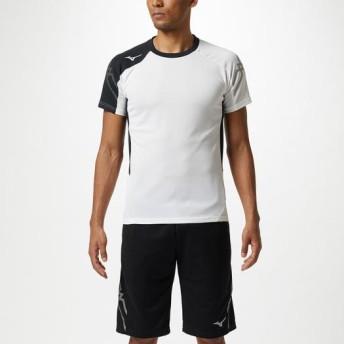 MIZUNO SHOP [ミズノ公式オンラインショップ] Tシャツ[ユニセックス] 01 ホワイト×ブラック 32MA9110