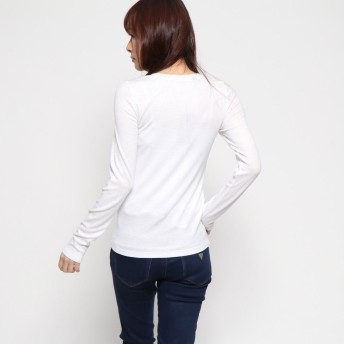 Tシャツ - GUESS【WOMEN】 [GUESS] TRIANGLE LOGO L/S TEE