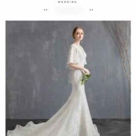 4916bf78b3cdf 高級ウェディングドレス結婚式ドレス花嫁ドレススレンダーラインオフショルダートレーン超豪華な