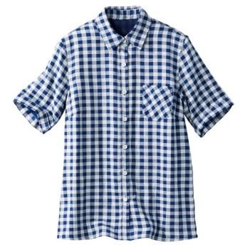 ストレッチWガーゼシャツ (大きいサイズレディース) plus size shirts, 衫, 襯衫