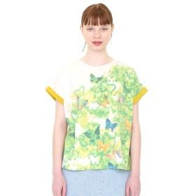 graniph グラニフ バックボタンラウンドネックTシャツ