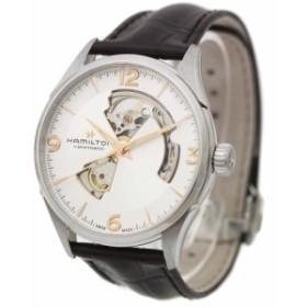 【中古】HAMILTON ハミルトン ジャズマスター オープンハート 腕時計 メンズ 自動巻き シルバー文字盤 シルバー ダークブラウン H3270555