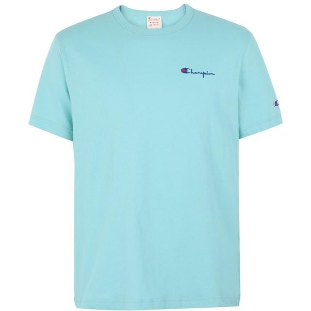 《期間限定セール開催中!》CHAMPION REVERSE WEAVE メンズ T シャツ ライトグリーン S コットン 100% Crewneck T-Shirt