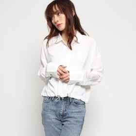 ゲス GUESS L/S SABINA DRAWSTRING SHIRT (WHITE ALYSSUM)