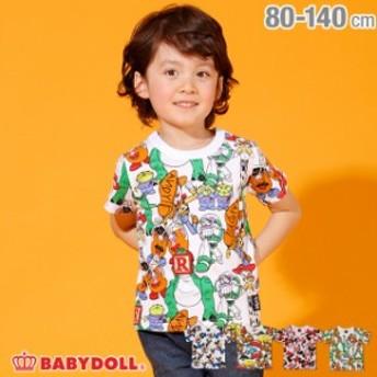 ディズニー キャラクター 総柄 Tシャツ 2136K ベビードール 子供服 ベビーサイズ キッズ