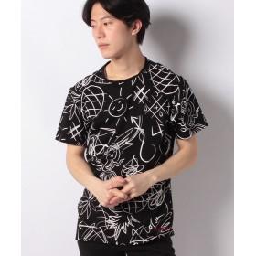 【50%OFF】 デシグアル Tシャツショート袖 メンズ ブラック系 S 【Desigual】 【セール開催中】