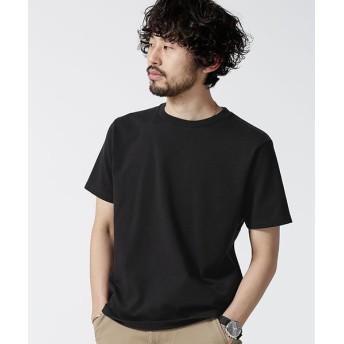 【50%OFF】 ナノ・ユニバース 超長綿リラックスフィットクルーネックTシャツ メンズ ブラック S 【nano・universe】 【セール開催中】