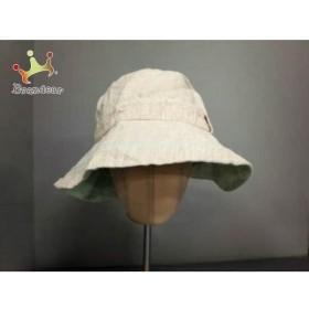 ボルサリーノ Borsalino 帽子 M ベージュ×ライトグリーン 麻   スペシャル特価 20190526