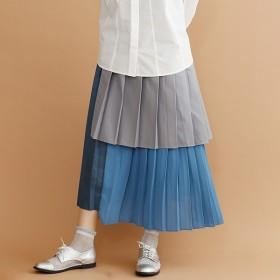 [マルイ]【セール】【plus】レイヤードプリーツスカート/メルロープラス(merlotPLUS)