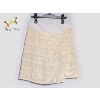 アルマーニコレッツォーニ ARMANICOLLEZIONI 巻きスカート サイズ38 S レディース ベージュ×白     スペシャル特価 20191021