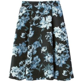 花柄スカート(ゆったりヒップ) (大きいサイズレディース)スカート,plus size