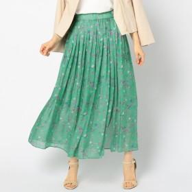 [マルイ]【セール】ブライトサテンフラワープリントスカート/ノーリーズ レディース(NOLLEY'S)