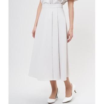 CLEAR IMPRESSION / クリアインプレッション リネン調サイドプリーツロングスカート《セットアップ対応》