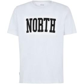 《期間限定セール開催中!》MAKIA メンズ T シャツ ホワイト S コットン 70% / ポリエステル 30% NORTH T-SHIRT
