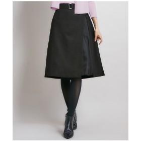 組曲 【洗える】ウールライクツイル スカート その他 スカート,グレー系
