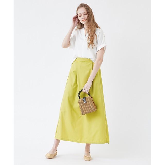 その他スカート - titivate タックロングフレアスカート/ボリューム感が控えめなので大人っぽい雰囲気/ボトムス/レディース/スカート/フレアスカート/ロング丈/シンプル/タック