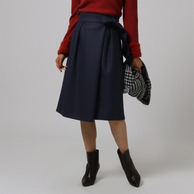 VERY×UNTITLED サッシュベルト付ミディ丈スカート