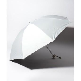 【20%OFF】 ムーンバット LANVIN COLLECTION 晴雨兼用傘 ミニ傘 ワンポイント オーガンジー カットワーク レディース ホワイト メーカー指定サイズ 【MOONBAT】 【セール開催中】