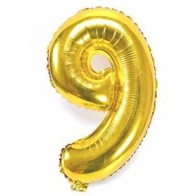 風船9数字パーティー誕生日結婚式飾り物アルミゴールドバルーン40インチ超巨大(0-9)J009