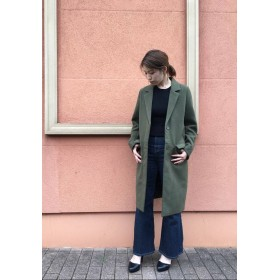 [OUTLET LIMITED ITEM]【MURUA】比翼シングルチェスターコート