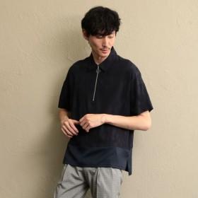 SALE【ラブレス(LOVELESS)】 【LF】MEN コンビネーションポロシャツ ネイビー1
