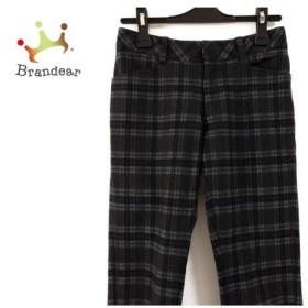 ジャスグリッティー パンツ サイズ0 XS レディース 黒×ダークグレー×グレー チェック柄   スペシャル特価 20190625