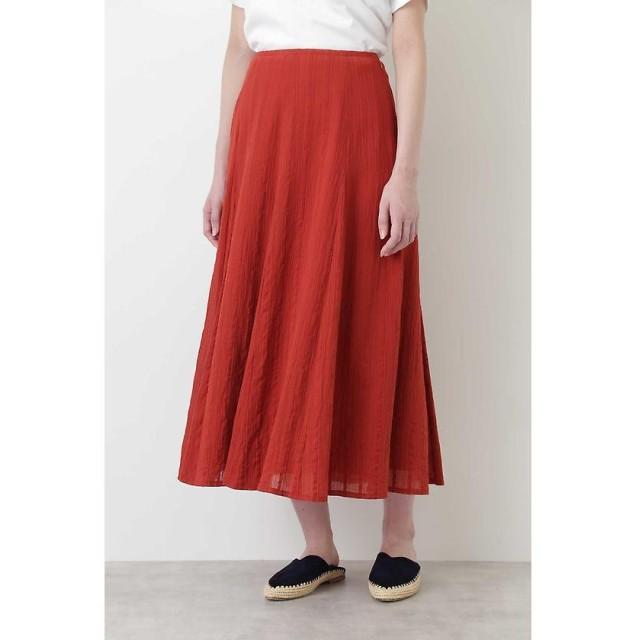HUMAN WOMAN ヒューマンウーマン 楊柳ストライプマチスカート