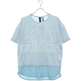 アディダス adidas レディース 半袖Tシャツ W ID 半袖ファブリックMIX オーバーサイズビッグロゴ Tシャツ DV0627
