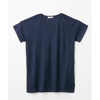 ワッフルロング丈半袖Tシャツ