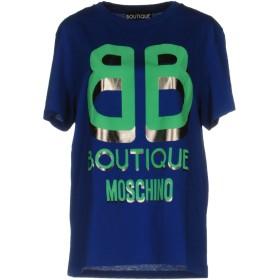 《期間限定 セール開催中》BOUTIQUE MOSCHINO レディース T シャツ ブルー 40 コットン 100%