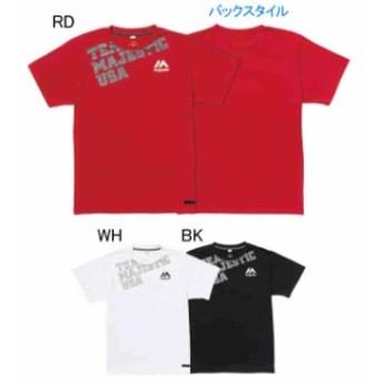 【キャッシュレスでP5%還元】 TEAM MAJESTIC 野球 ベースボールTシャツ クール ベース SS Tee D-5 XM01MJ9S05