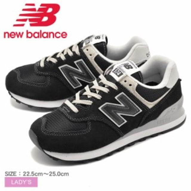 9c74b6a306cf55 ニューバランス スニーカー レディース 黒 ブラック シューズ 靴 NEW BALANCE WL574EB WL574 EB