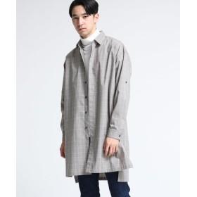 tk.TAKEO KIKUCHI(ティーケー タケオ キクチ) グレンチェックシャツコート