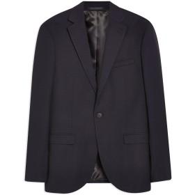 《期間限定セール開催中!》TOPMAN メンズ テーラードジャケット ダークブルー 36 R ポリエステル 67% / レーヨン 30% / ポリウレタン 3% NAVY PINDOT SLIM BLAZER