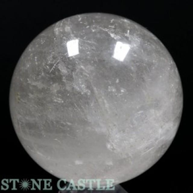 ☆置石一点物☆【天然石 置き石】丸玉 水晶 約106mm No.17