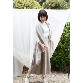 Organic Cotton 大判ヤク混薄手ストール(ヤクビエラ)