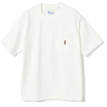 <MEN>Jams / フラダンス ワンポイント ポケットTシャツ メンズ Tシャツ WHITE M