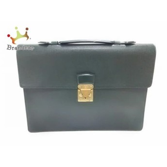 中古 Louis Vuitton ルイヴィトン ビジネスバッグ タイガ セルヴィエットクラド レザー M30074