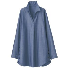 チュニック ベルーナ テンセル綿シャンブレーシャツチュニック カラシ M レディース