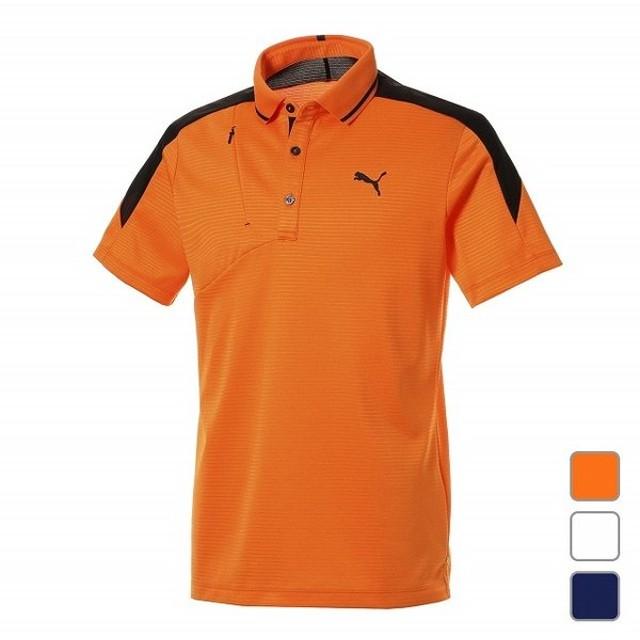 75ef5398526fd プーマ メンズ ゴルフウェア 半袖シャツ ゴルフ ジップポケット SS ポロシャツ 923832 PUMA