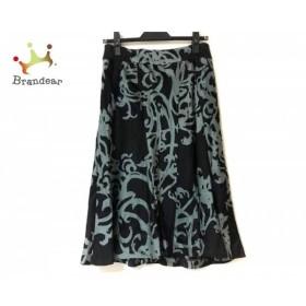 セオリー theory スカート サイズ0 XS レディース 美品 黒×ライトグレー 光沢素材   スペシャル特価 20190622
