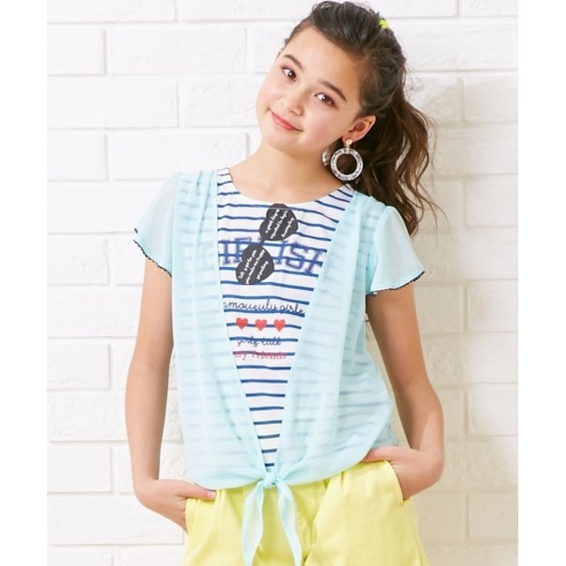 重ね着風Tシャツ(女の子 子供服。ジュニア服) Tシャツ・カットソー