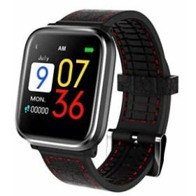 OKNAE スマートウォッチ【2018年最新版】心拍計 活動量計 多機能腕時計 1.3インチHD画面 フィットネス 血圧測定 通知
