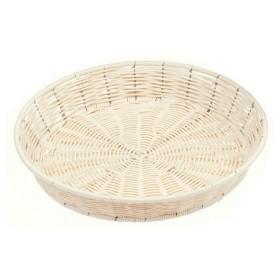 萬洋 樹脂バスケット丸(白)φ38 91-126A