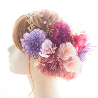 髪飾り・ヘッドドレス 紫 結婚式☆ウェディング☆卒業式☆成人式 ヘアアクセサリー☆ヘアパーツ和装・振袖・着物