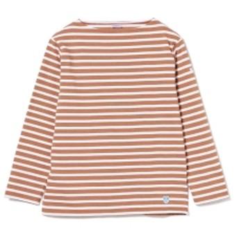 <MEN>ORCIVAL / コットンロード ボーダー フレンチ バスクシャツ メンズ Tシャツ BROWN 4