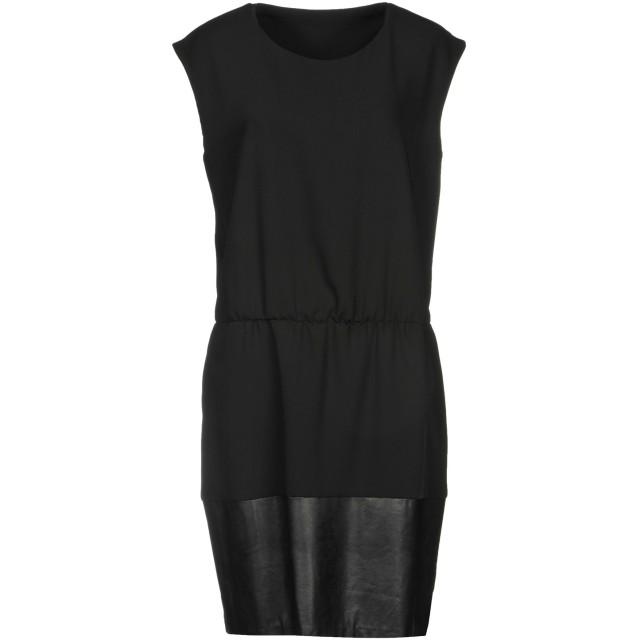《セール開催中》LIU JO レディース ミニワンピース&ドレス ブラック 42 ポリエステル 100% / レーヨン / ポリウレタン樹脂